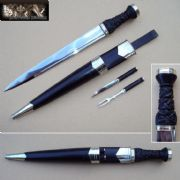 Late 18th Century Highland Officers Dirk Set - Black